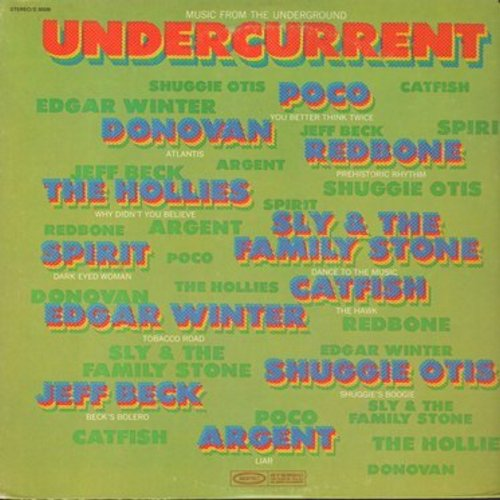 Spirit, Hollies, Donovan, Sly & The Family Stone, others - Undercurrent - Music From The Underground: Dark Eyed Woman, Atlantis, Shuggie's Boogie, Beck's Bolero, Dance To The Music (Vinyl STEREO LP record) - M10/EX8 - LP Records