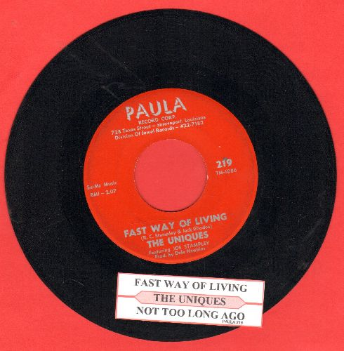 Uniques - Fast Way Of Living/Not Too Long Ago (with juke box label) - EX8/ - 45 rpm Records