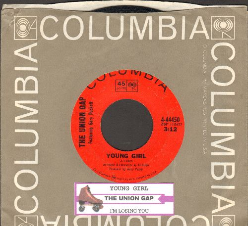Union Gap - Young Girl/I'm Losing You (with Columbia company sleeve and  juke box label) - EX8/ - 45 rpm Records