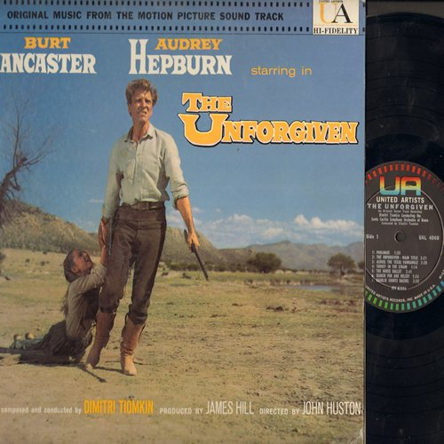 Tiomkin, Dimitri - The Unforgiven - Original Motion Picture Soundtrack, music composed and conducted by Dimitri Tiomkin (Vinyl MONO LP record) - M10/EX8 - LP Records