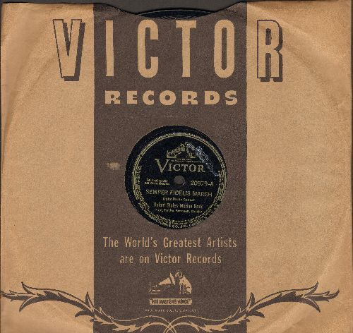 United States Marine Band - Sempre Fidelis March/Second Connecticut March (10 inch 78 rpm record with Victor company sleeve) - NM9/ - 78 rpm