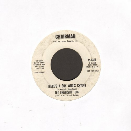 University Four - There's A Boy Who's Crying/Buena Suerte (DJ advance pressing) - VG7/ - 45 rpm Records