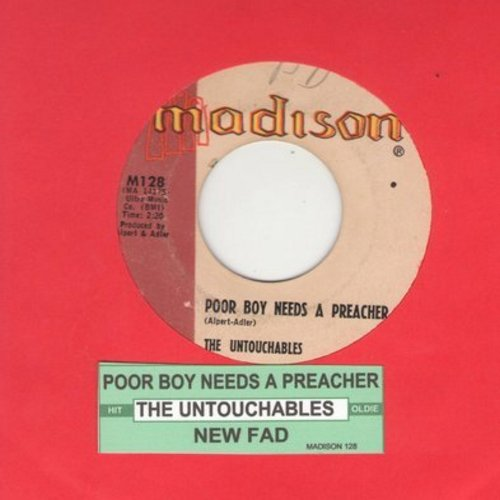 Untouchables - Poor Boy Needs A Preacher/New Fad (with juke box label) - VG7/ - 45 rpm Records