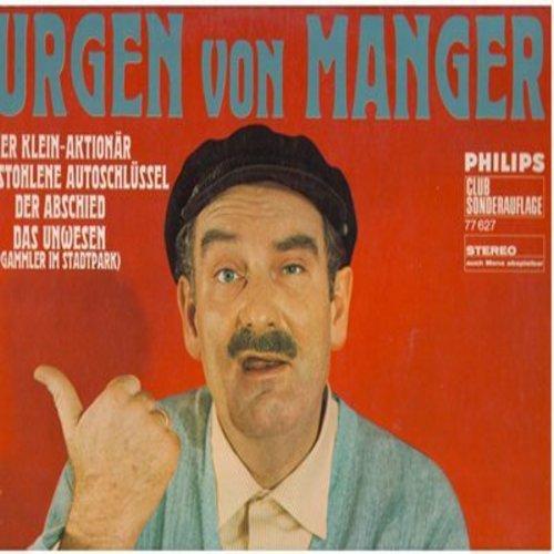 von Manger, Jurgen - Jurgen von Manger - Der Kleinaktionar, Der gestohlene Autoschlussel, Der Abschied, Das Unwesen (Vinyl LP record, German Comedy album, German Pressing) - NM9/EX8 - LP Records
