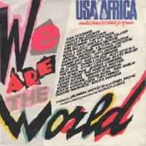 USA For Africa featuring Michael Jackson - We Are The World/Grace (All-Star Choir headed by Michael Jackson) - NM9/EX8 - 45 rpm Records