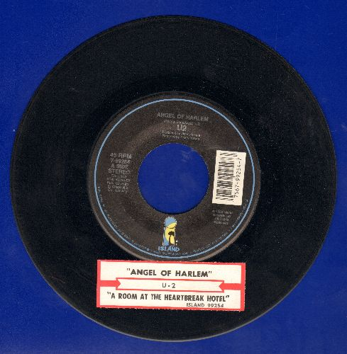 U2 - Angel Of Harlem/A Room At The Heartbreak Hotel (with juke box label) - NM9/ - 45 rpm Records
