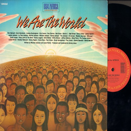 USA For Africa featuring Michael Jackson - We Are The World - 12 inch 33rpm vinyl Maxi Single featuring undedited 7+ minutes version (MINT condition!) - M10/M10 - Maxi Singles