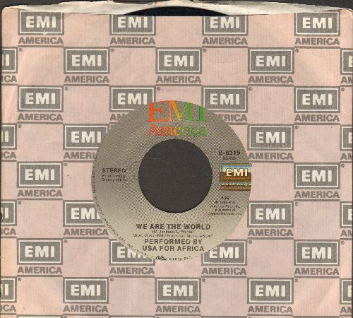 USA For Africa featuring Michael Jackson - We Are The World/Hands Across America (with EMI company sleeve) - NM9/ - 45 rpm Records