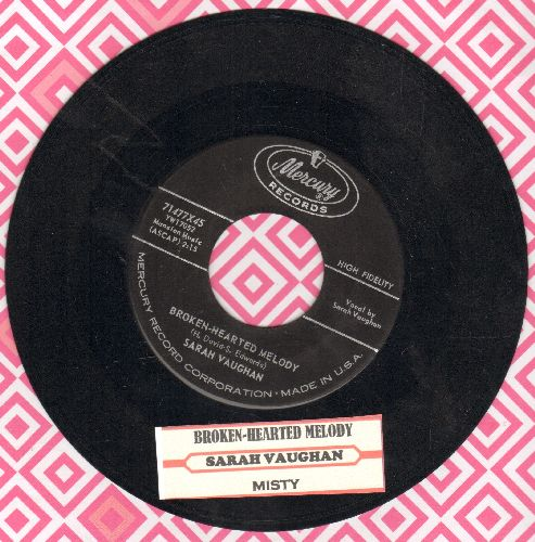 Vaughan, Sarah - Broken-Hearted Melody/Misty (with juke box label) - NM9/ - 45 rpm Records