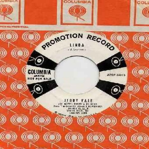 Vale, Jerry - Linda/Sleepy Time Gal (DJ advance copy with vinage Columbia company sleeve) - NM9/ - 45 rpm Records