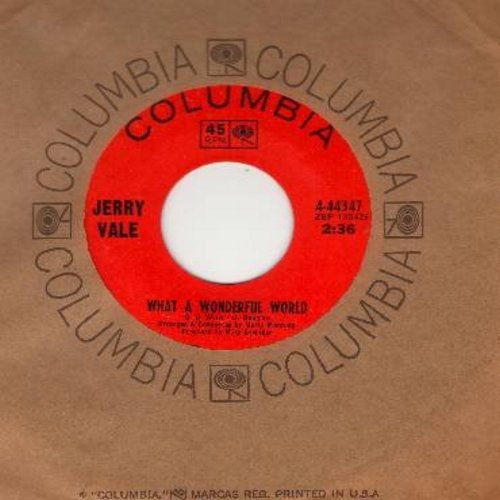 Vale, Jerry - What A Wonderful World/Love Me, The Way I Love You (with Columbia company sleeve) - EX8/ - 45 rpm Records