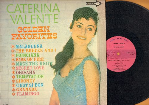 Valente, Caterina - Golden Favorites: Malaguena, The Breeze And I, Kiss Of Fire, Temptation, C'est Si Bon, Granada, Mack The Knife, Secret Love (Vinyl MONO LP record, DJ advance pressing) - VG7/VG7 - LP Records