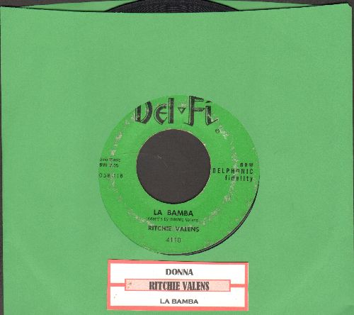 Valens, Ritchie - La Bamba/Donna (green label, black logo) - VG7/ - 45 rpm Records