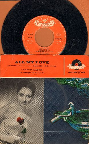 Valente, Caterina - All My Love/Them There Eyes/Side By Side/Golden Earrings (Vinyl EP record with picture sleeve, German Pressing sung in English) - VG7/VG7 - 45 rpm Records