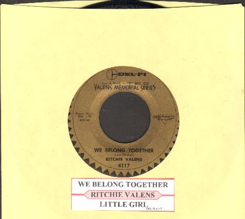 Valens, Ritchie - We Belong Together/Little Girl (gold label early double-hit re-issue with juke box label) - EX8/ - 45 rpm Records