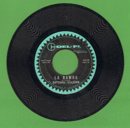 Valens, Ritchie - La Bamba/Donna (green black label, green logo) - VG7/ - 45 rpm Records