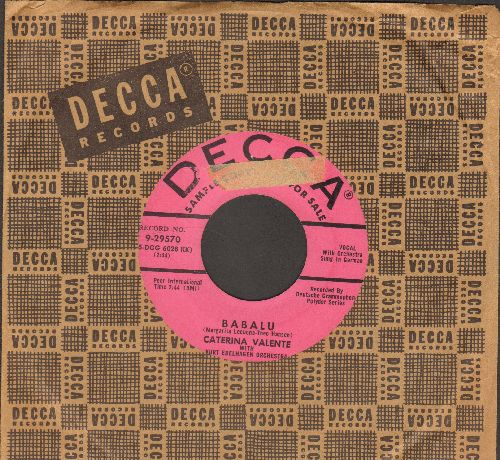 Valente, Caterina - Babalu (sung in German)/This Must Be Wrong (DJ advance pressing with vintage Decca company sleeve)(sol) - EX8/ - 45 rpm Records