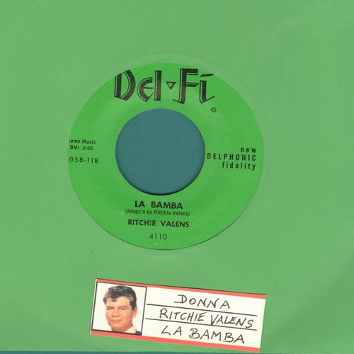 Valens, Ritchie - La Bamba/Donna (green label, black logo) - NM9/ - 45 rpm Records