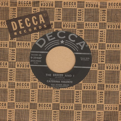 Valente, Caterina - The Breeze And I/Jalousie (with Decca company sleeve) - EX8/ - 45 rpm Records