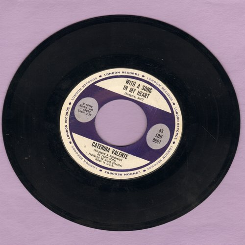 Valente, Caterina - With A Song In My Heart/When In Rome - NM9/ - 45 rpm Records