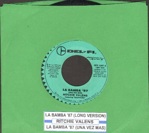 Valens, Ritchie - La Bamaba '87 (Una Vez Mas)/La Bamba '87 (Long Version) - NM9/ - 45 rpm Records