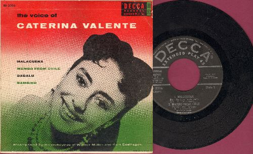 Valente, Caterina - The Voice Of Caterina Valente: Malaguena/Mambo From Chile/Babalu/Bambino (Vinyl EP record with picture cover) - VG7/VG7 - 45 rpm Records
