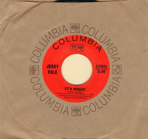 Vale, Jerry - It's Magic/My Melancholy Baby (with vintage Columbia company sleeve) - NM9/ - 45 rpm Records