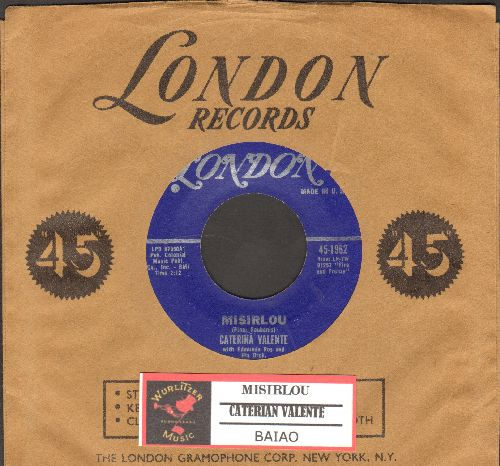 Valente, Caterina - Misorlou/Baiao (with vintage London company sleeve and juke box label) - NM9/ - 45 rpm Records