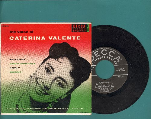 Valente, Caterina - The Voice Of Caterina Valente: Malaguena/Mambo From Chile/Babalu/Bambino (Vinyl EP record with picture cover) - EX8/NM9 - 45 rpm Records