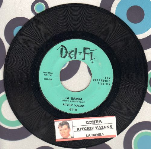 Valens, Ritchie - La Bamba/Donna (light blue pressing, NICE condition with juke box label) - NM9/ - 45 rpm Records