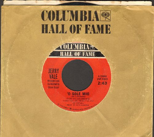 Vale, Jerry - Come Back To Sorrento/'O Sole Mio (double-hit re-issue with company sleeve) - VG7/ - 45 rpm Records