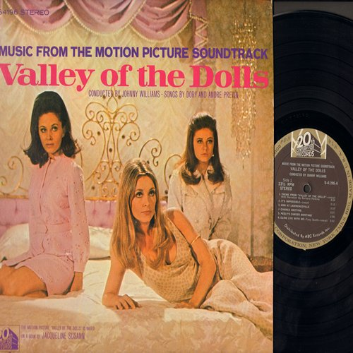 Valley Of The Dolls - Valley Of The Dolls - Music From The Motion Picture Soundtrack (Vinyl STEREO LP record) - EX8/VG6 - LP Records