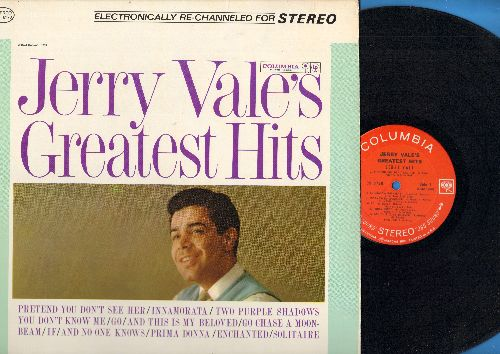 Vale, Jerry - Jerry Vale's Greatest Hits: You Don't Know Me, Enchanted, Prima Donna, And This Is My Beloved, Innamorata, Go, Go Chase A Moonbeam (Vinyl STEREO LP record, NICE condition!) - M10/NM9 - LP Records