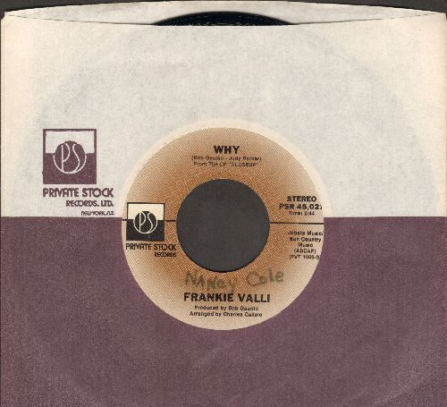 Valli, Frankie - Why/Swearin' To God (with Private Stock company sleeve) (wol) - NM9/ - 45 rpm Records