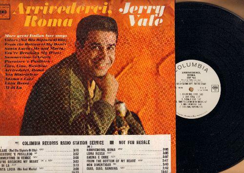 Vale, Jerry - Arrivederci, Roma: Volare, Santa Lucia, You're Breaking My Heart, Ciao Ciao Bambina, Al Di La (Vinyl MONO LP record, promo pressing with track listing sticker on cover) - NM9/VG7 - LP Records