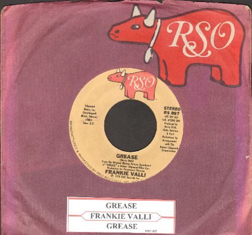 Valli, Frankie - Grease (Is The Word)/Grease (Instrumental) (with RSO company sleeve and juke box label) - EX8/ - 45 rpm Records