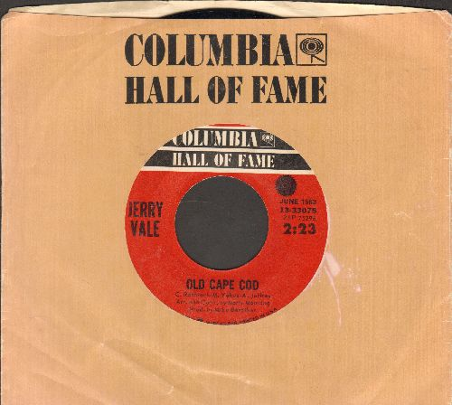 Vale, Jerry - Old Cape Cod/If Ever I Would Leave You (double-hit re-issue with Columbia company sleeve) - NM9/ - 45 rpm Records