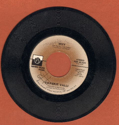 Valli, Frankie - Why/Swearin' To God (wol) - VG7/ - 45 rpm Records