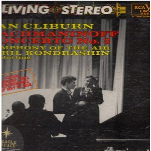 Cliburn, Van, Kiril Kondrashin - Rachmaninoff Concerto No. 3 - Actual Carnegie Hall Performance of May 19, 1958 (Vinyl LP record, shaded dog Red Seal Label LIVING STEREO issue) - EX8/EX8 - LP Records