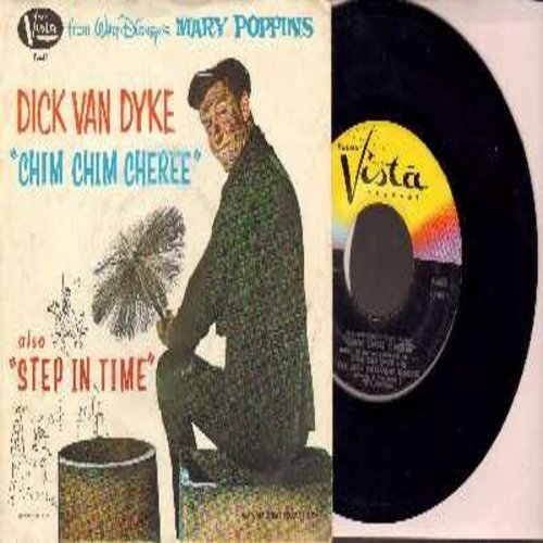 Van Dyke, Dick - Chim Chim Cheree/Step In Time (with picture sleeve) - NM9/VG7 - 45 rpm Records