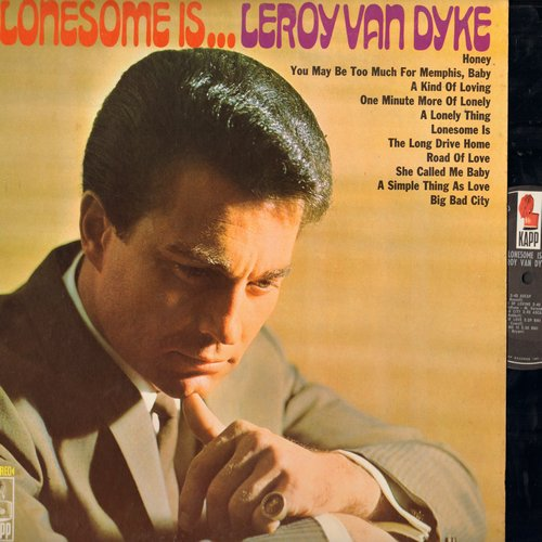 Van Dyke, Leroy - Lonesome Is…: Honey, She Called Me Baby, Big Bad City, The Long Drive Home (Vinyl STEREO LP record) - NM9/EX8 - LP Records