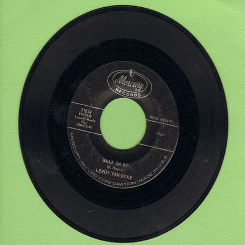 Van Dyke, Leroy - Walk On By/My World Is Caving In - EX8/ - 45 rpm Records