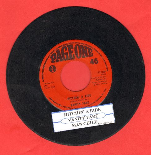 Vanity Fare - Hitchin' A Ride/Man Child (with juke box label) - EX8/ - 45 rpm Records