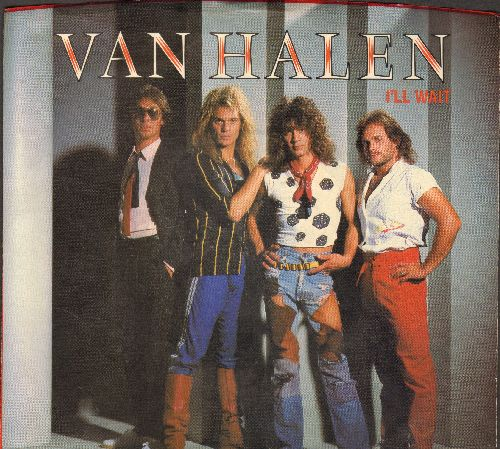 Van Halen - I'll Wait/Girl Gone Bad (with picture sleeve) - NM9/EX8 - 45 rpm Records