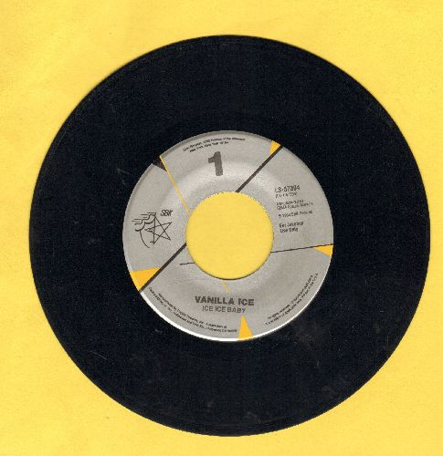 Vanilla Ice - Ice Ice Baby/Play That Funky Music - EX8/ - 45 rpm Records