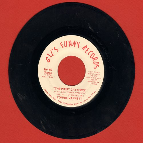 Vannett, Connie - The Pussy Cat Song (double-A-sided Novelty Record - not for mixed company!) - EX8/ - 45 rpm Records