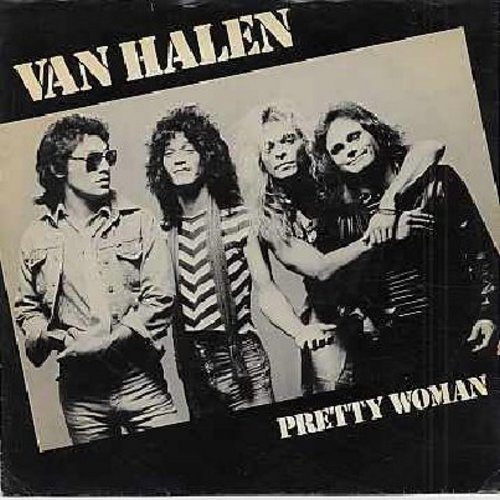 Van Halen - Pretty Woman/Happy Tarils (with picture sleeve) - EX8/VG7 - 45 rpm Records