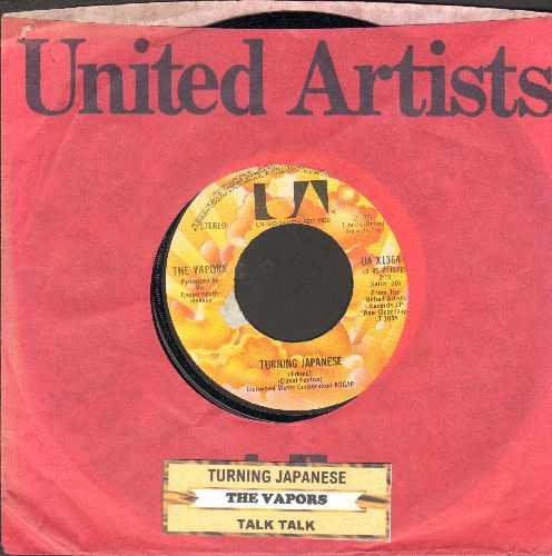 Vapors - Turning Japanese/Talk Talk (with juke box label and United Artists company sleeve) - NM9/ - 45 rpm Records
