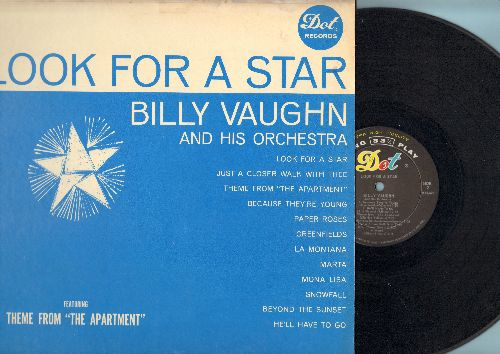 Vaughn, Billy & His Orchestra & Chorus - Look For A Star: Mona Lisa, He'll Have To Go, Just A Closer Walk With Thee (vinyl MONO LP record) - EX8/VG7 - LP Records