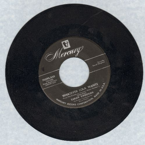 Vaughan, Sarah - Whatever Lola Wants/Oh Yeah - VG7/ - 45 rpm Records